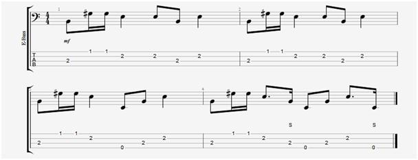 accompanying bass groove