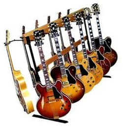 guitars on a rack