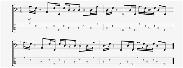phrygian scale bass line